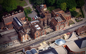 Maidstone Museum and Bentlif Art Gallery (Chillington House) from the air