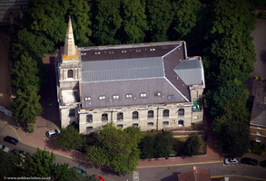 Holy Trinity Church Maidstone from the air