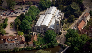 All Saints Church Maidstone from the air