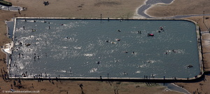Margate  Tidal Pool from the air