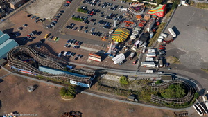 Margate Scenic Railway roller coaster  from the air
