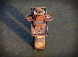 Knock John Fort,  Maunsell Sea Fort from the air