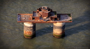 Knock John Fort,  Maunsell Fort from the air