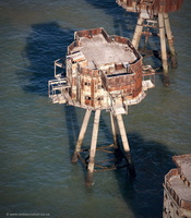 Shivering Sands Sea Fort aerial photograph