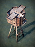 Shivering Sands Fort ,  Maunsell Sea Fort from the air