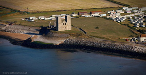 St Mary's Church Reculver from the air