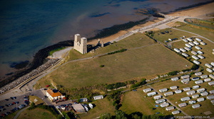 Reculver Roman Fort - Regulbium from the air