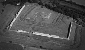 Richborough Roman Fort  from the air