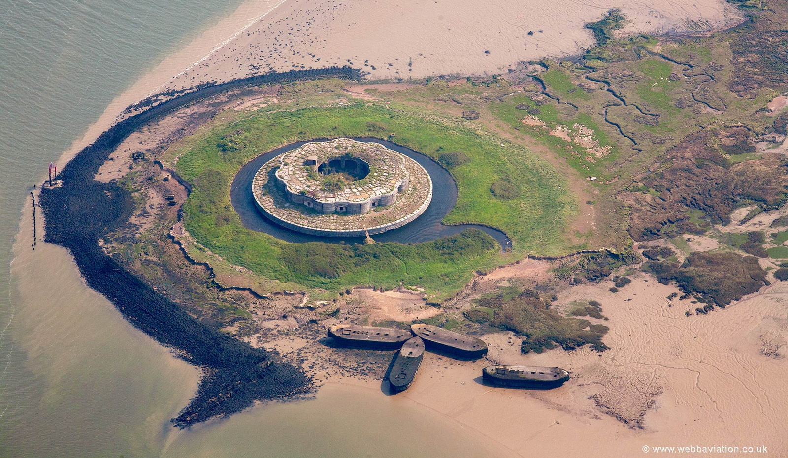 Fort Darnet from the air