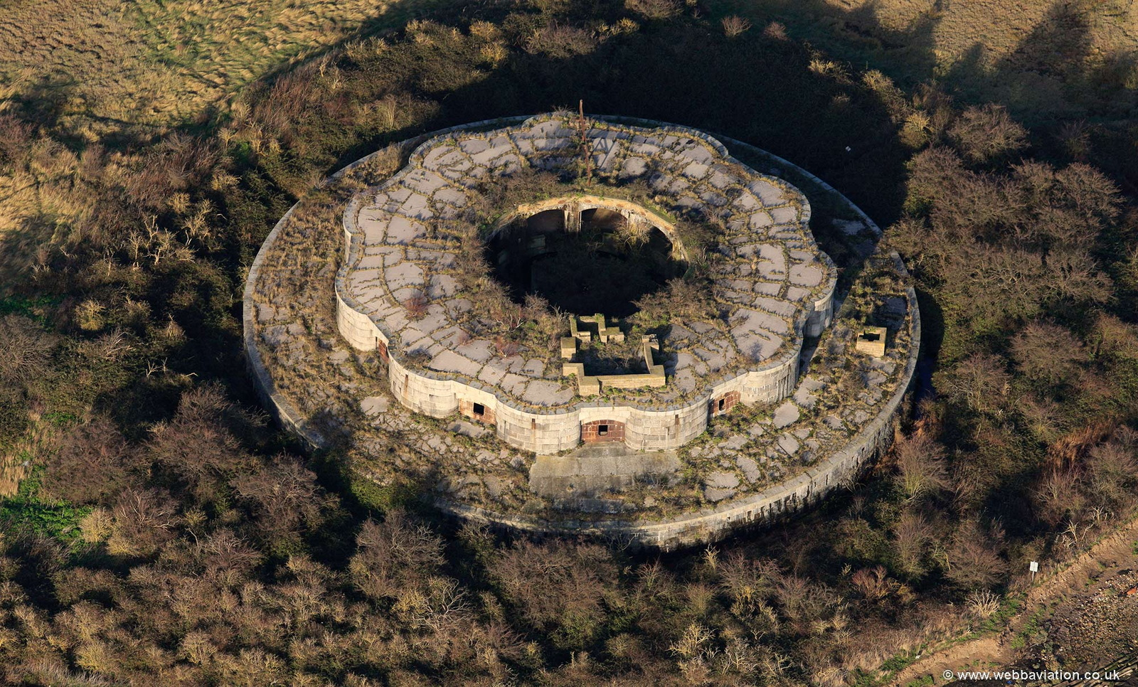 Hoo Fort from the air