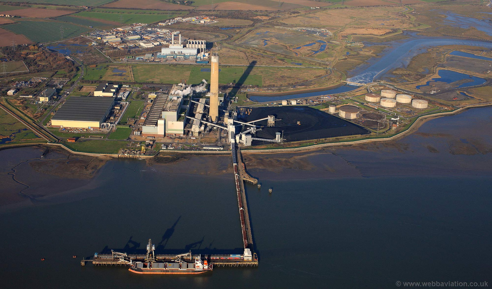 Kingsnorth power station from the air