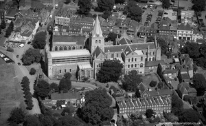 Rochester Cathedral from the air
