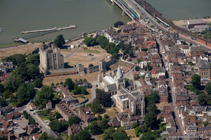 Rochester Cathedral and Rochester Castle from the air