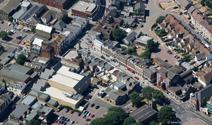 Broadway  Sheerness Kent  UK  from the air