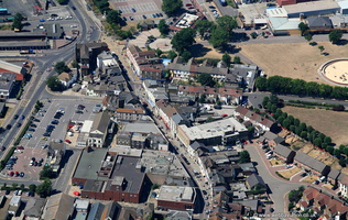 High Street  Sheerness Kent  UK  from the air