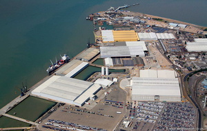 the Port of Sheerness Kent  UK  from the air