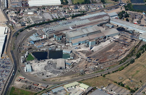 Sheerness Steel Plant  Kent  UK  from the air