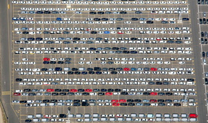 imported cars Sheerness  UK  from the air