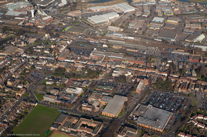 High Street Sittingbourne from the air