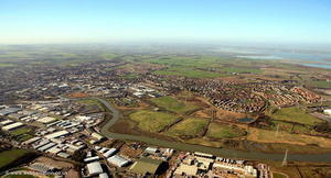 Milton Creek Country Park Sittingbourne from the air