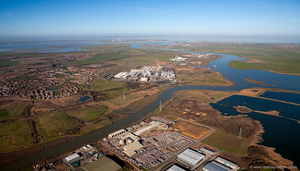 Milton Creek Sittingbourne from the air