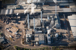 Papermill at Sittingbourne Kent England Kent  England UK aerial photograph