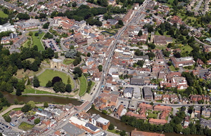 Tonbridge Kent England Kent England UK aerial photograph