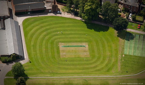 Cricket Pitch at  Tonbridge School from the air