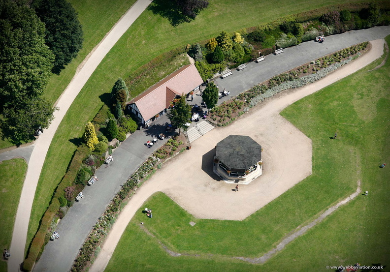 Calverley Grounds, Royal Tunbridge Wells from the air
