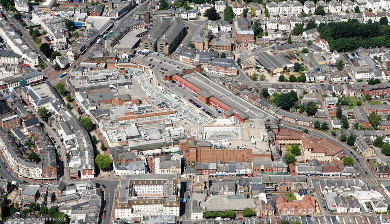 Royal Victoria Place Shopping Centre in Tunbridge Wells  from the air