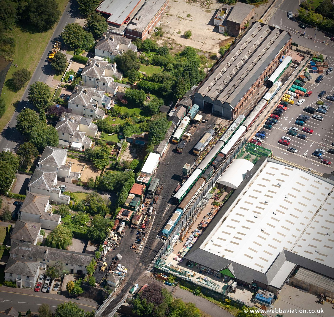 Spa Valley Railway, Tunbridge Wells West railway station from the air