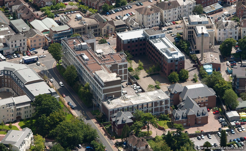 BT telephone exchange Building, Culverden Park, Tunbridge Wells  from the air