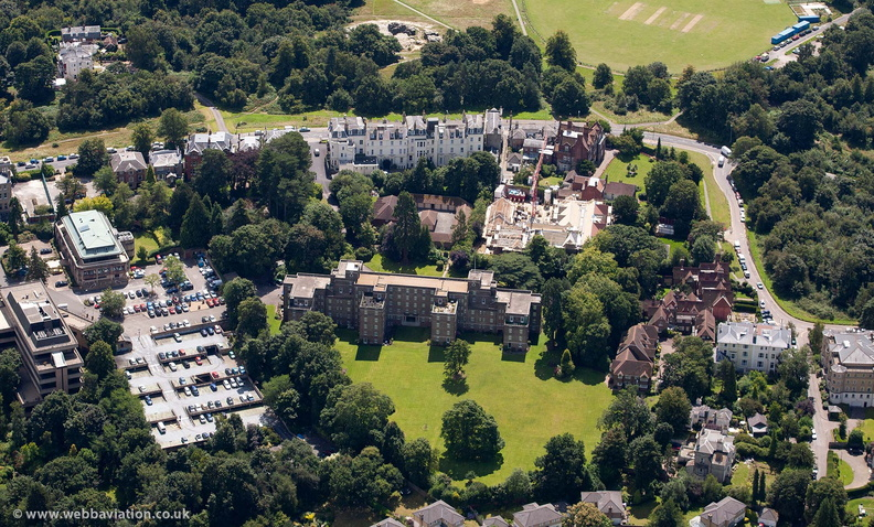 Chancellor House, Tunbridge Wells from the air