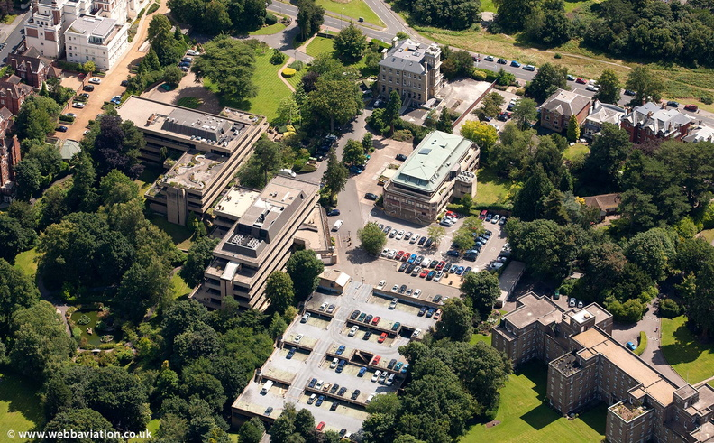 Brockbourne House, Mount Ephraim, Tunbridge Wells from the air