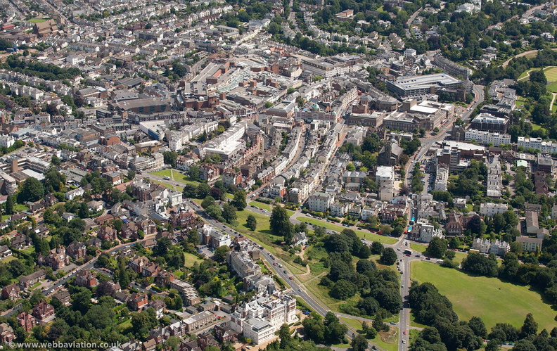 Royal Tunbridge Wells from the air