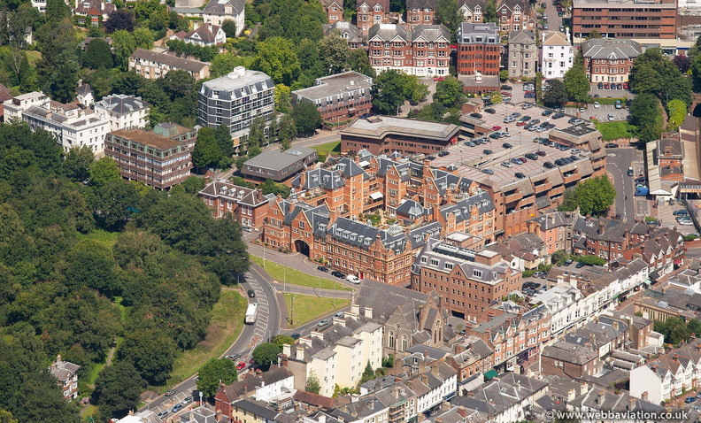 Post Office Square development , Royal Tunbridge Wells from the air