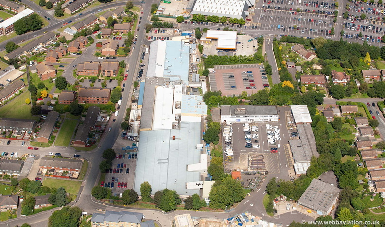 W A Turner Sausage Factory Tunbridge Wells from the air