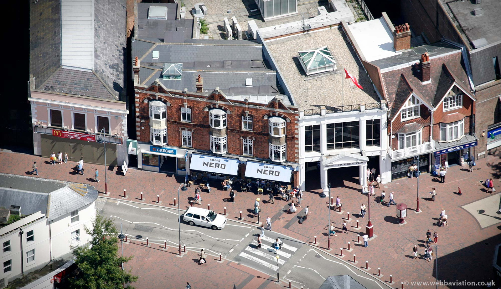 Cafe Nero in Tunbridge Wells  from the air
