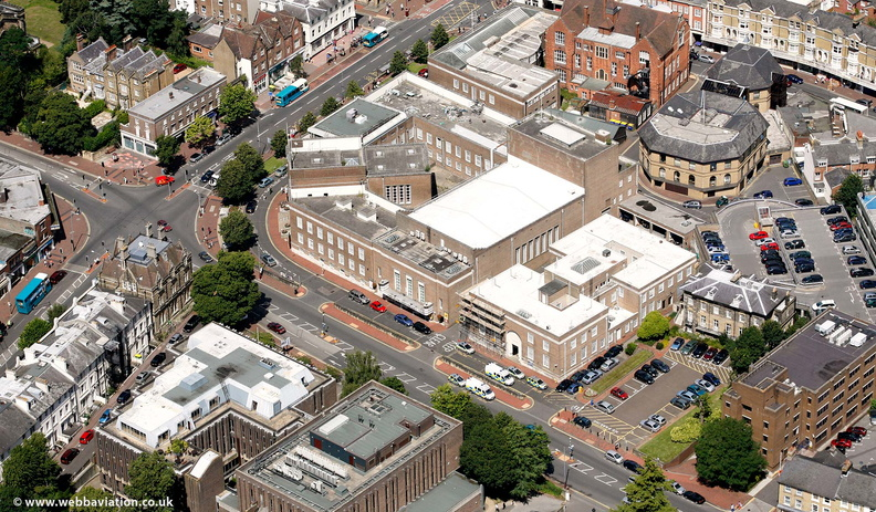 Tunbridge Wells Town Hall from the air