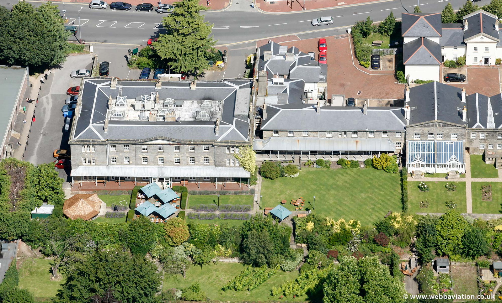 Hotel du Vin Royal Tunbridge Wells from the air
