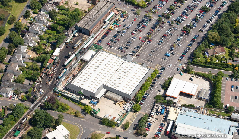 Homebase DIY store in Tunbridge Wells    from the air