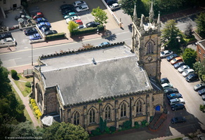 Trinity Theatre / Holy Trinity Church, Tunbridge Wells from the air