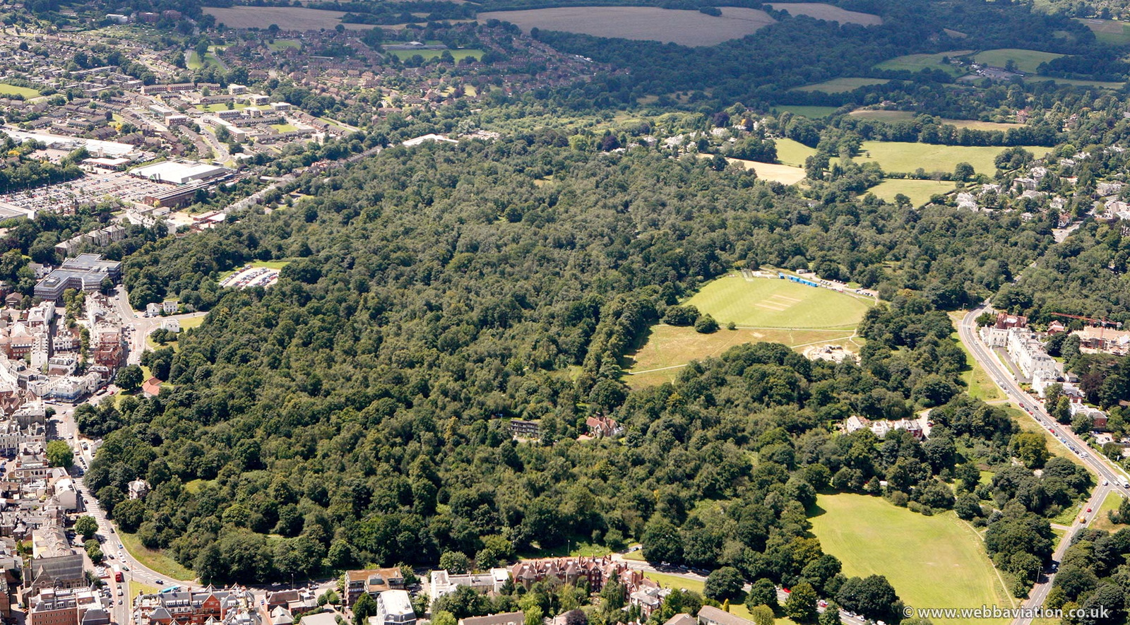Tunbridge Wells Common from the air