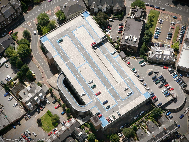 Crescent Road multi-storey Car Park Royal Tunbridge Wells from the air