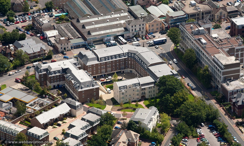 Exchange Mews,  Culverden Park Road , Tunbridge Wells  from the air