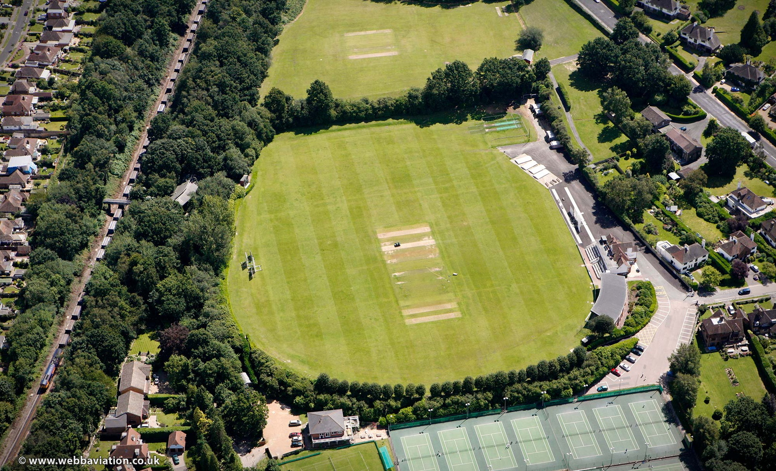 The Nevill Ground Tunbridge Wells  from the air