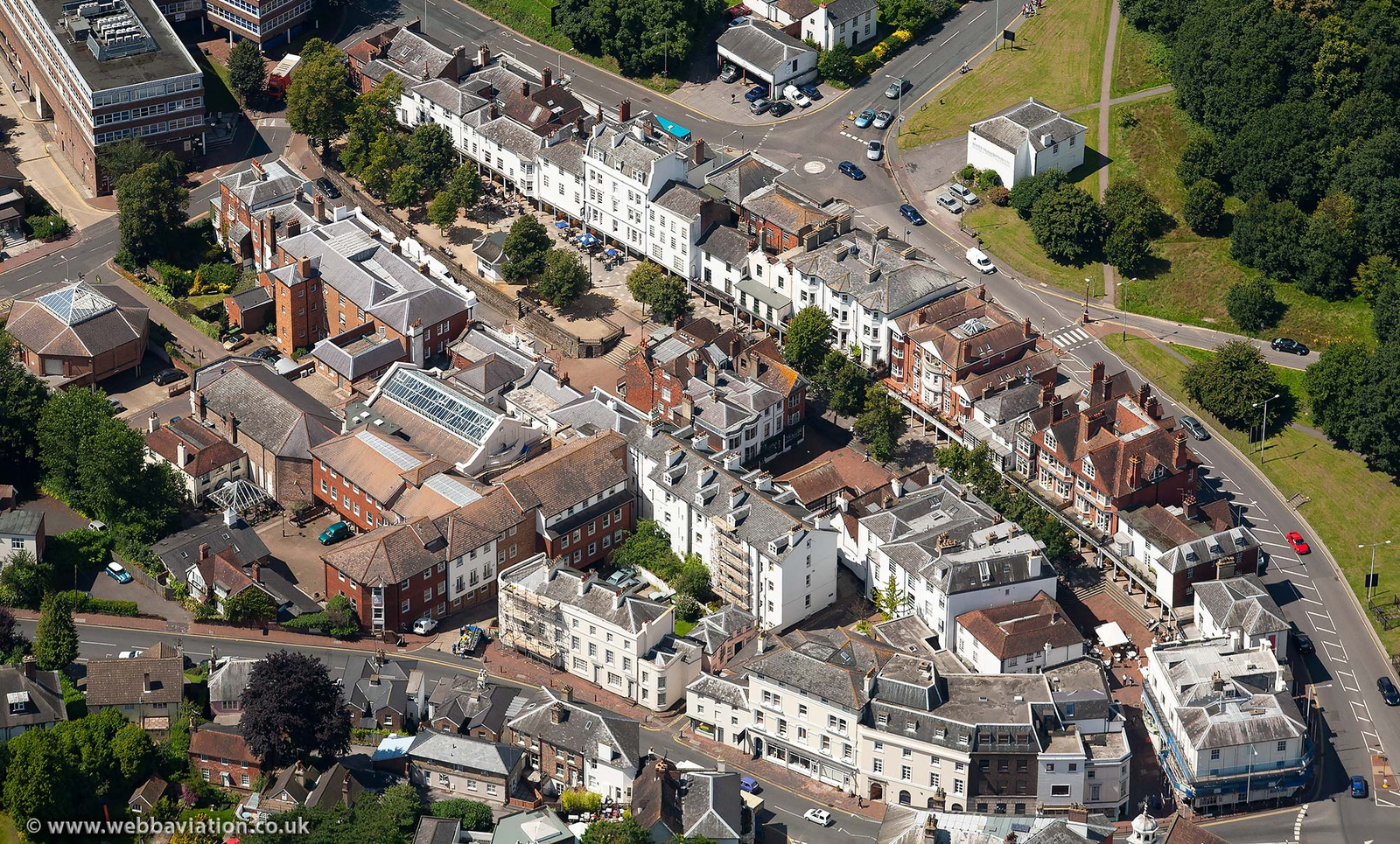 The Pantiles Tunbridge Wells from the air