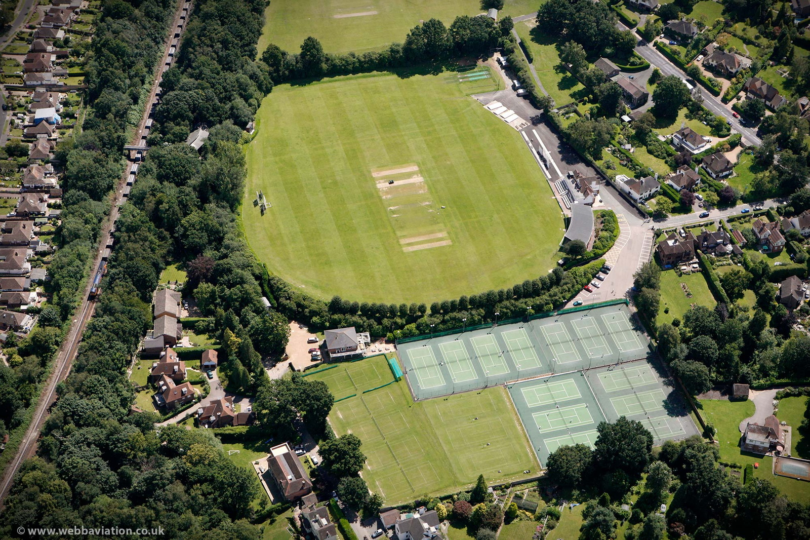 The Nevill cricket  ground Tunbridge Wells  from the air