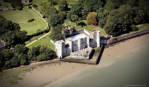 Upnor Castle Elizabethan artillery fort  from the air
