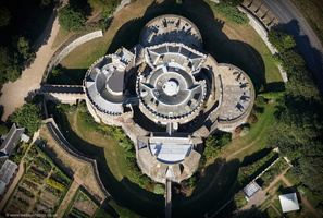 Walmer Castle from the air